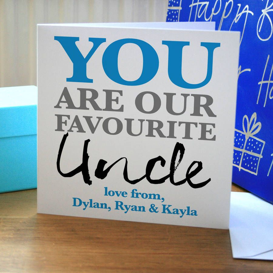 Personalised favourite uncle birthday card personalised favourite uncle birthday card bookmarktalkfo Gallery